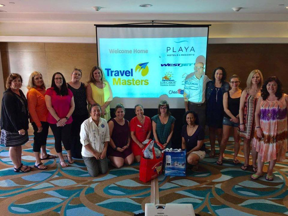 Travel Masters travel agents at their training session